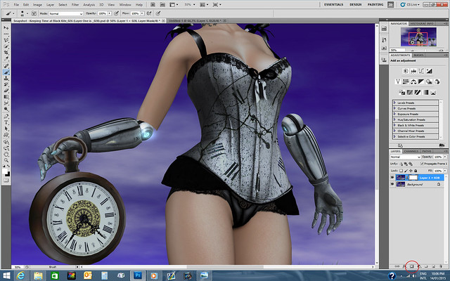 Alles with Metal Arms (Layer Mask Added + Layer Mask Button Highlighted)