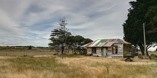 Old house, Woodend, Southland, New Zealand