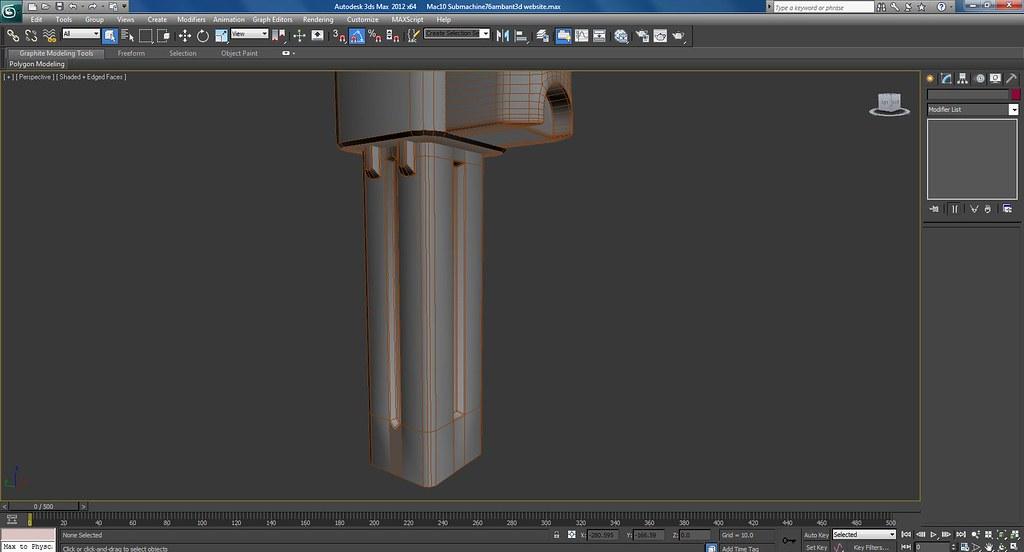 Mac 10 Sub Machine Gun Work In Progress Wire Frame Screenshots
