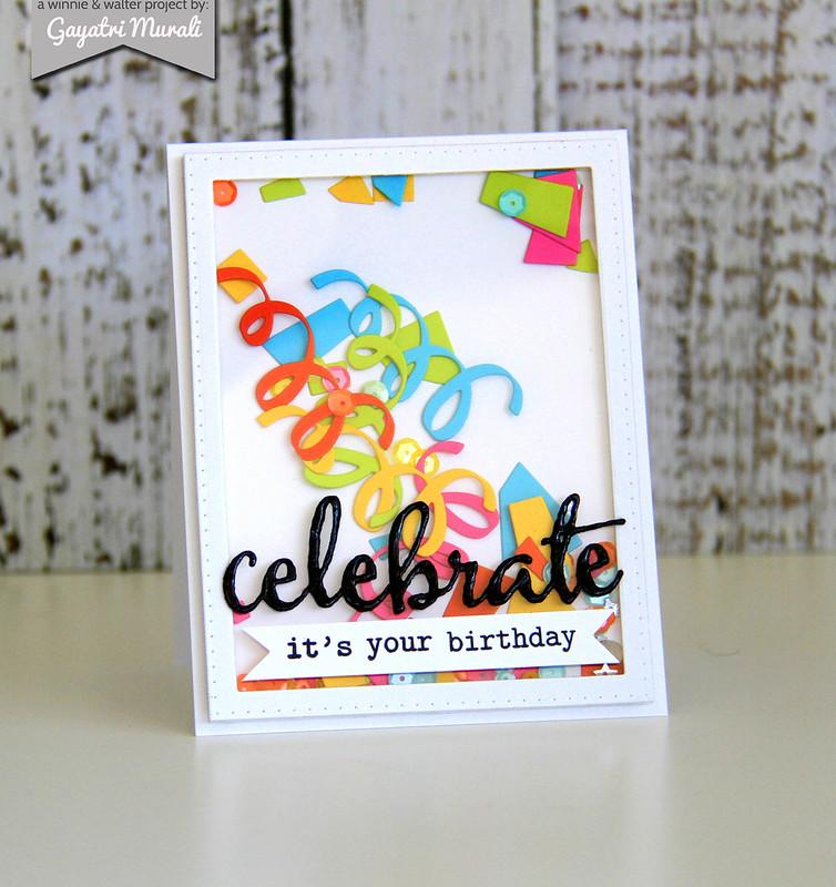 Celebrate shaker card3