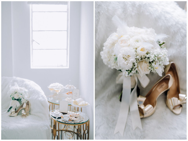 White wedding, style shoot, Multifolds, Heaven in Wild Flower, pure, flowers, white on white, wedding, bouquet, heels, desserts