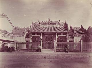 SAIGON ca 1880-90 by Dieulefils - Chùa Bà Thiên Hậu trên Bến Chương Dương, gần cầu Ông Lãnh  (Quảng Triệu Hội Quán)