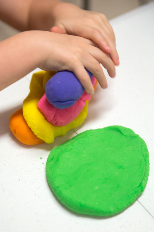 Child Playing with Therapeutic Playdough