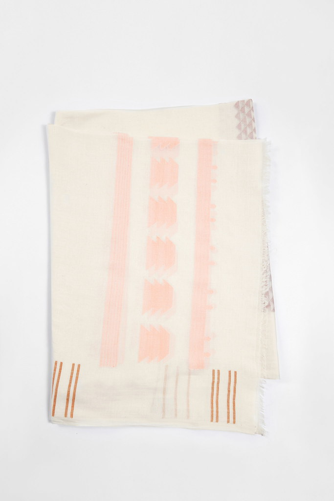 Tuva Ecru Cotton Scarf