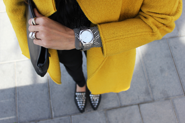yellow coat fashion shoes coohuco 13