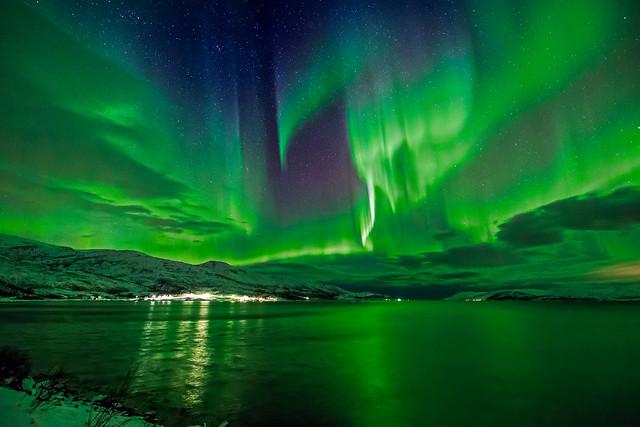 Wayne Pinkston - Aurora over Bo Fjord, Norway