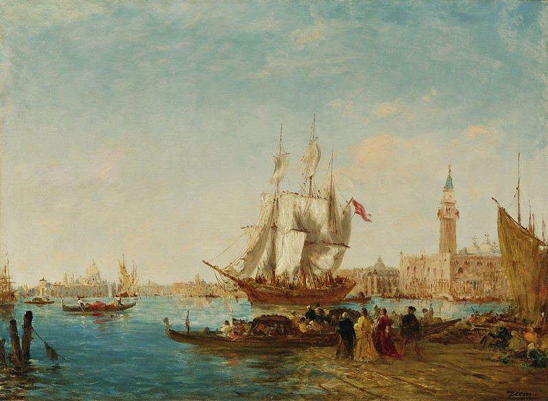 Félix Ziem - Embarquement sur le quai des esclavons