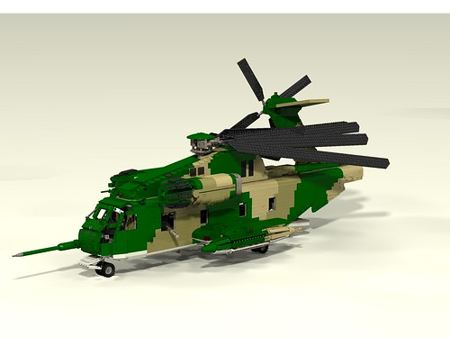 HH-53C Super Jolly Green Giant blades folded left front