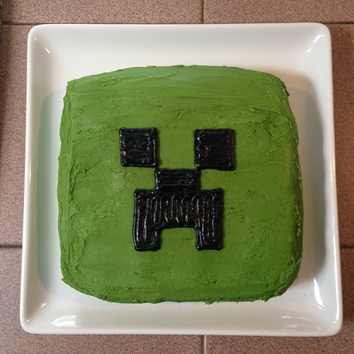 One creeper cake!!