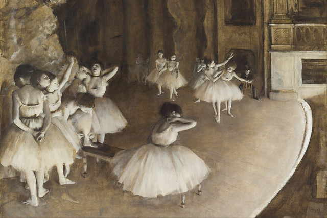 Detail of Rehearsal on Stage, Edgar Degas, 1874 Musée d'Orsay, Paris