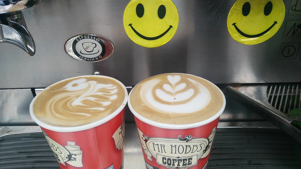 Latte Art from the Mr Hobbs Coffee Mobile at Media House i