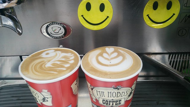 Latte Art from the Mr Hobbs Coffee Mobile at Media House in South Dublin today.  @latteart