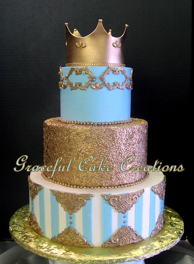 tiffany blue and gold wedding cake graceful cake creations s most recent flickr photos picssr 20992
