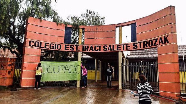 Colegio Estadual Iraci Salete Strozak, en Rio Bonito do Iguaçu, en Paraná, foi ocupado en la ultima semana - Créditos: Brasil de Fato Paraná