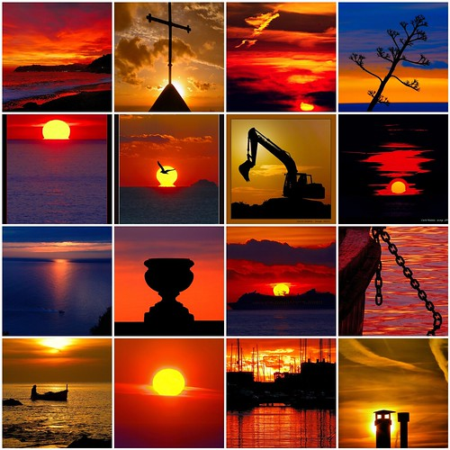 A selection of my images: sunsets
