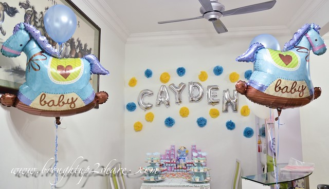 Baby Caydens Fullmoon Party with Rainbow Dreams Balloons Brought