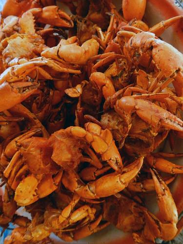 Crab For Sale on U Bien Bridge in Mandalay in Myanmar