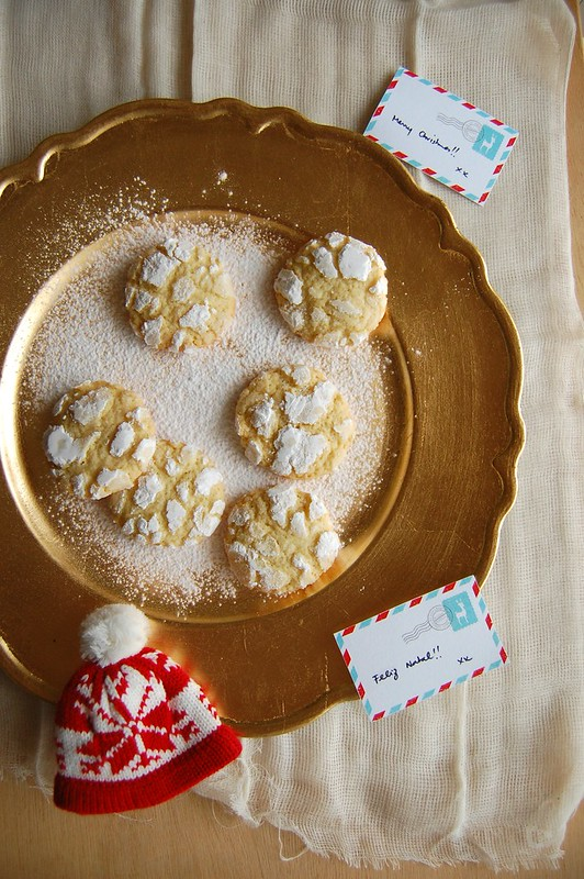 Lemon burst cookies / Cookies craquelados de limão siciliano