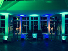 Mitton Hall in a Blue / Aqua Theme