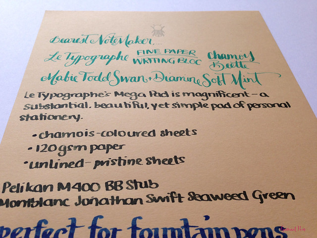 Review Le Typographe Fine Paper Writing Bloc - A5 Beetle Chamois @NoteMakerTweets (9)