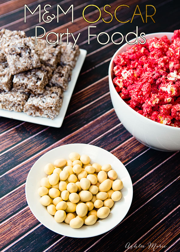 fun M&M themed Oscar party food for your celebrations