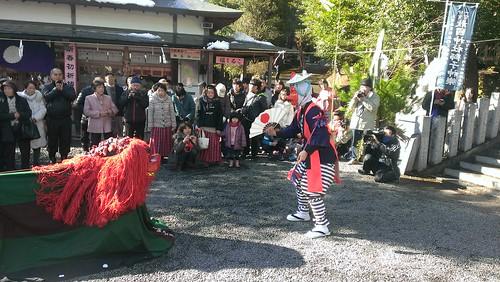 AEKUNI Shrine Lion Kagura Dance
