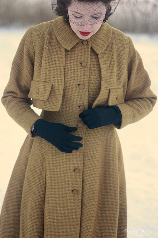 yellow coat in snow 6