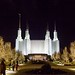 Mormon Temple Grand Allee at Christmas