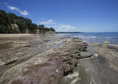 ocean newzealand beach landscape tide low shoreline rocky auckland shore nz takapuna waterscape lisaridings fantommst