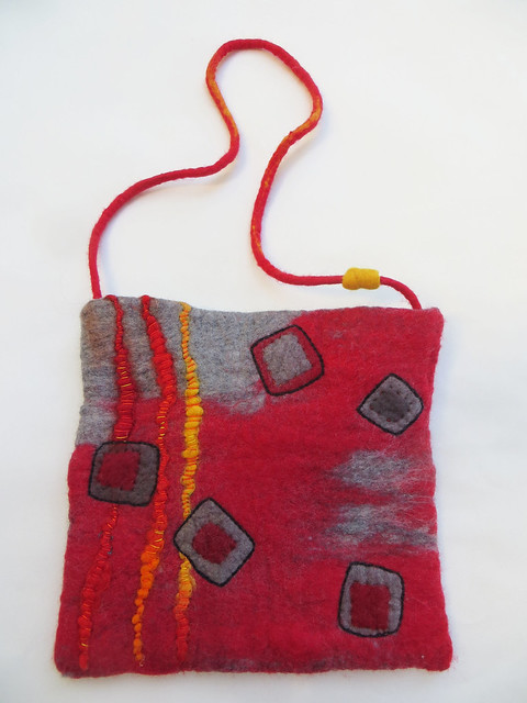 Red Felted Purse