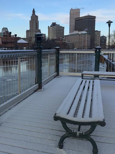 Snow Bench by John via I {heart} Rhody