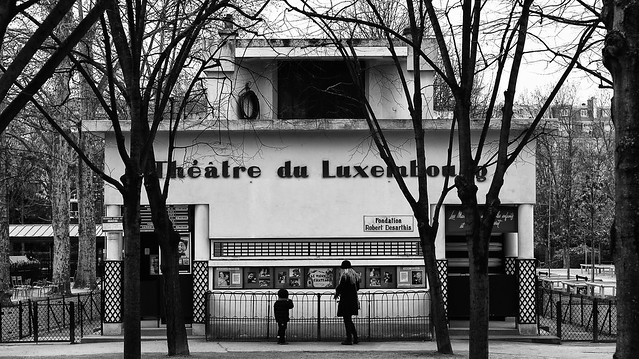 Paris. Luxembourg Jardins. Theatre du Luxembourg