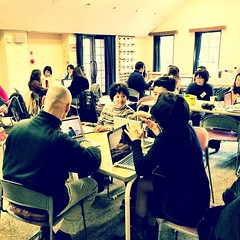 Lots of great conversations in my first workshop specifically for Japanese language teachers. What a great group!