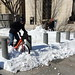 Snow Day Bikeshare Through Snow Pile by Mr.TinDC