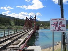 The Carcross Railway Bridge in Carcross, Yukon, Canada