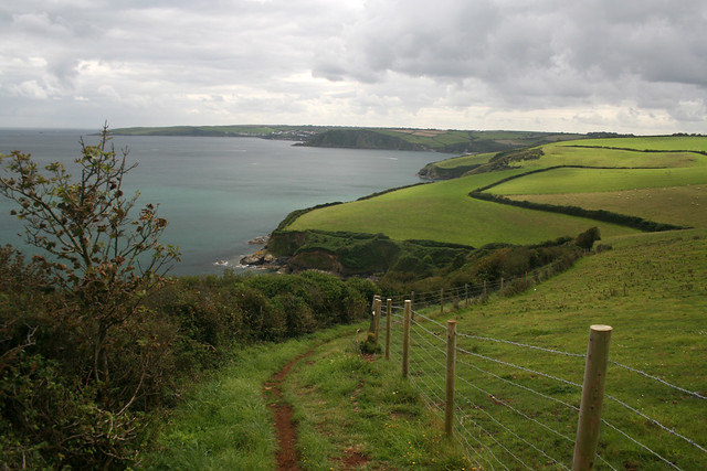 The coast path west from Hallane