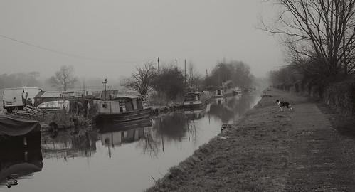 The Hamlet of Croughton through Winter's fog