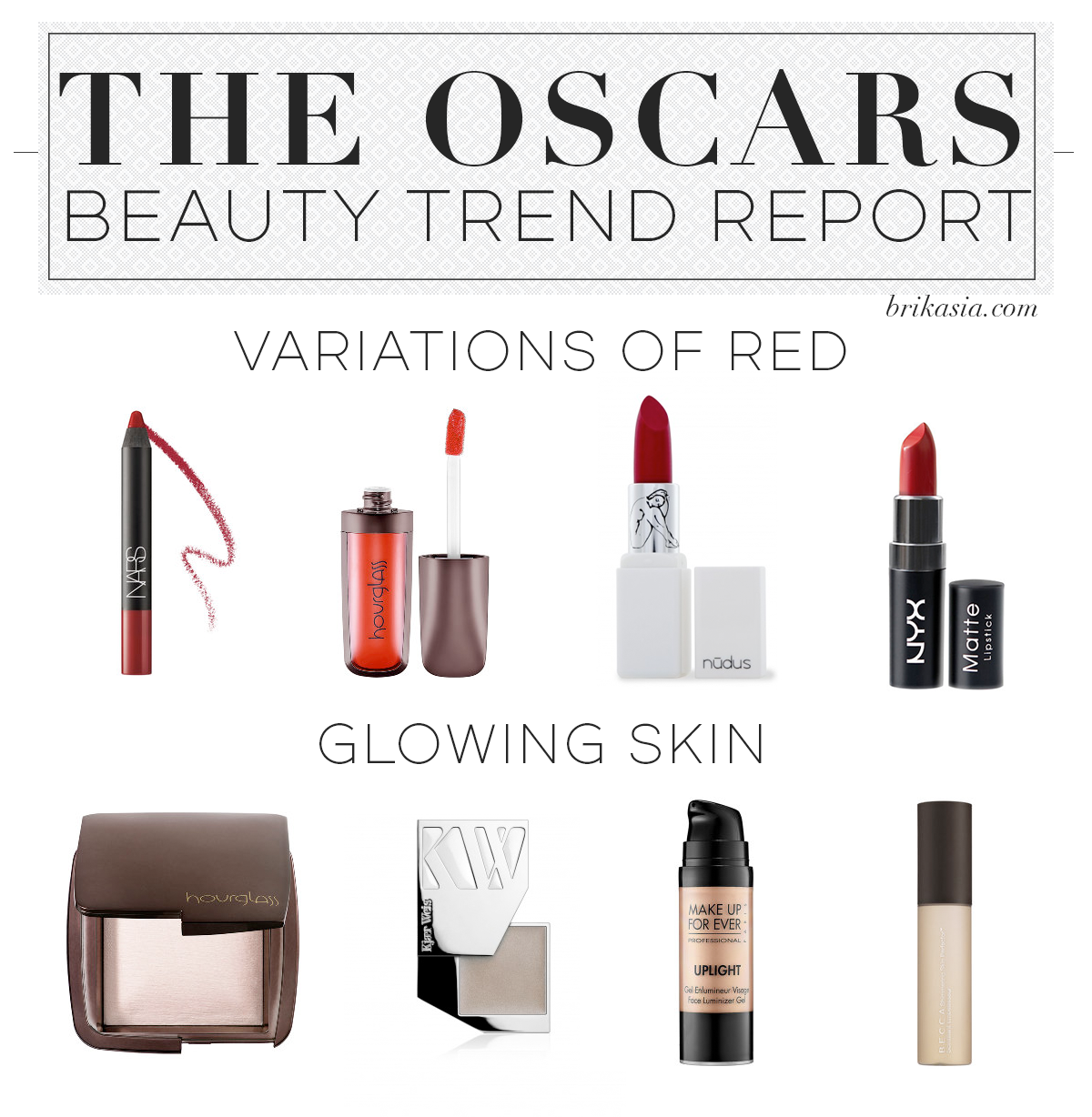 Oscars 2015 Beauty Trend Report, makeup trends oscars, the oscars beauty trends, red lipstick trends, glowing skin makeup trend