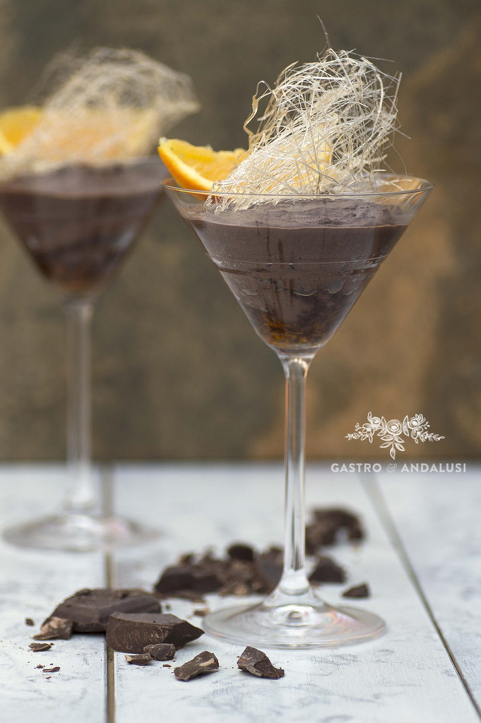 Mousse de Chocolate y naranja con aceite de oliva
