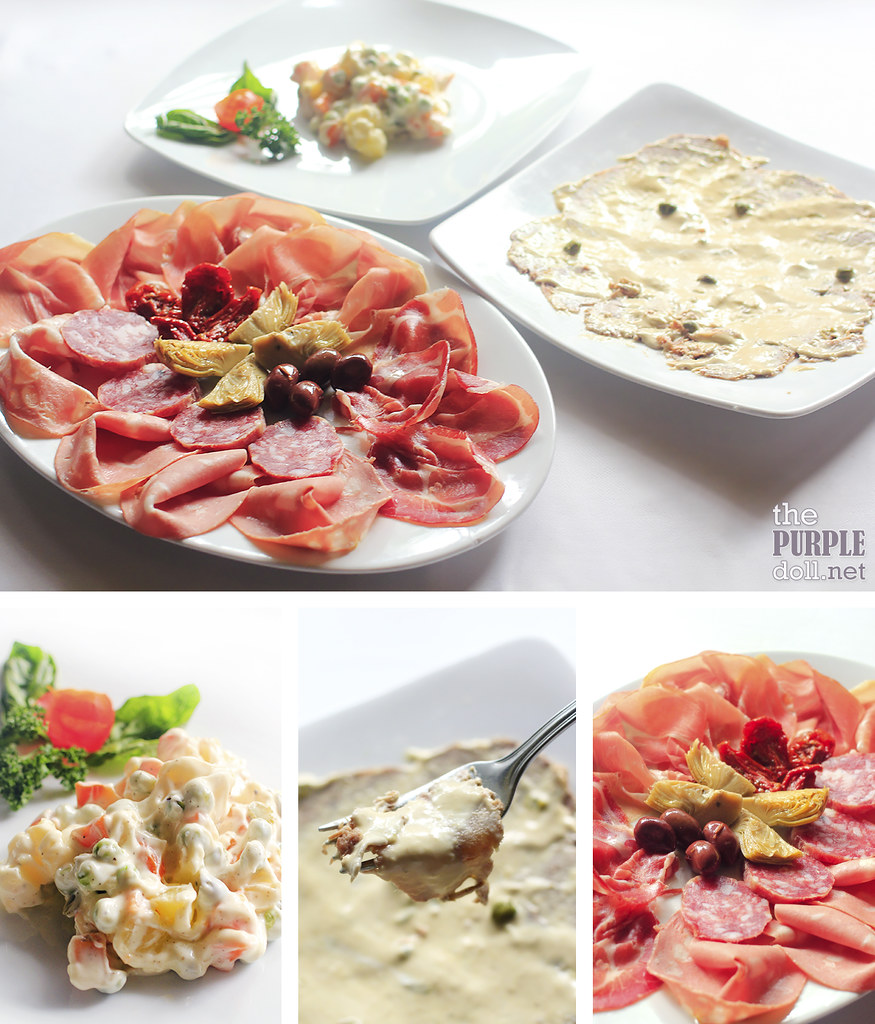 Insalata Russa, A Vitello Tonnato (P680), Piatto Fantasia - Mixed Italian Cold Cuts (P1,630)