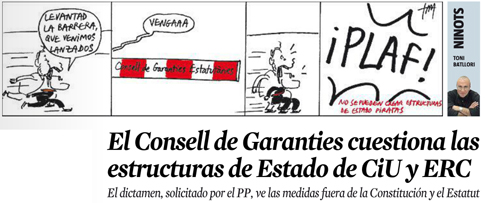 15b27 LV Consell Garanties rechaza estructuras de Estado de CiU y ERC