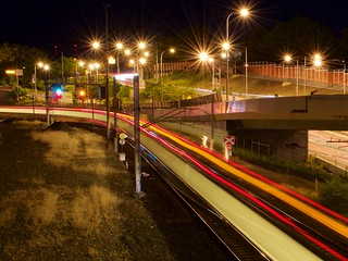 Exhibition Line Light Trail, Brisbane