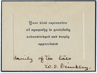 Thank You Card, March 28, 1928, to Miss Ethel Wilson, Ballsville, Virginia