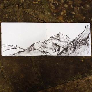 #vierwaldstaettersee #mountains #switzerland #doodle #draw365 #sketchbook #drawing