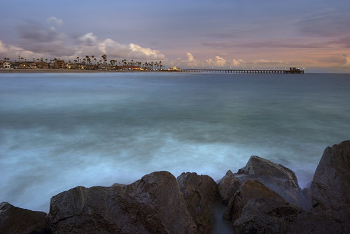 ocean california sunset sea sky seascape west beach water clouds coast pier rocks pacific jetty tide newport blackies