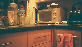 In kitchen