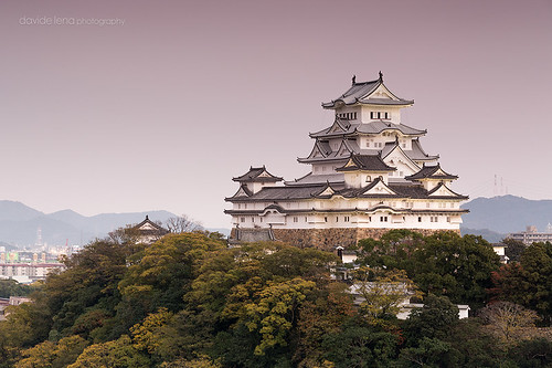 travel november autumn sunset castle japan canon landscape asia himeji kansai gnd