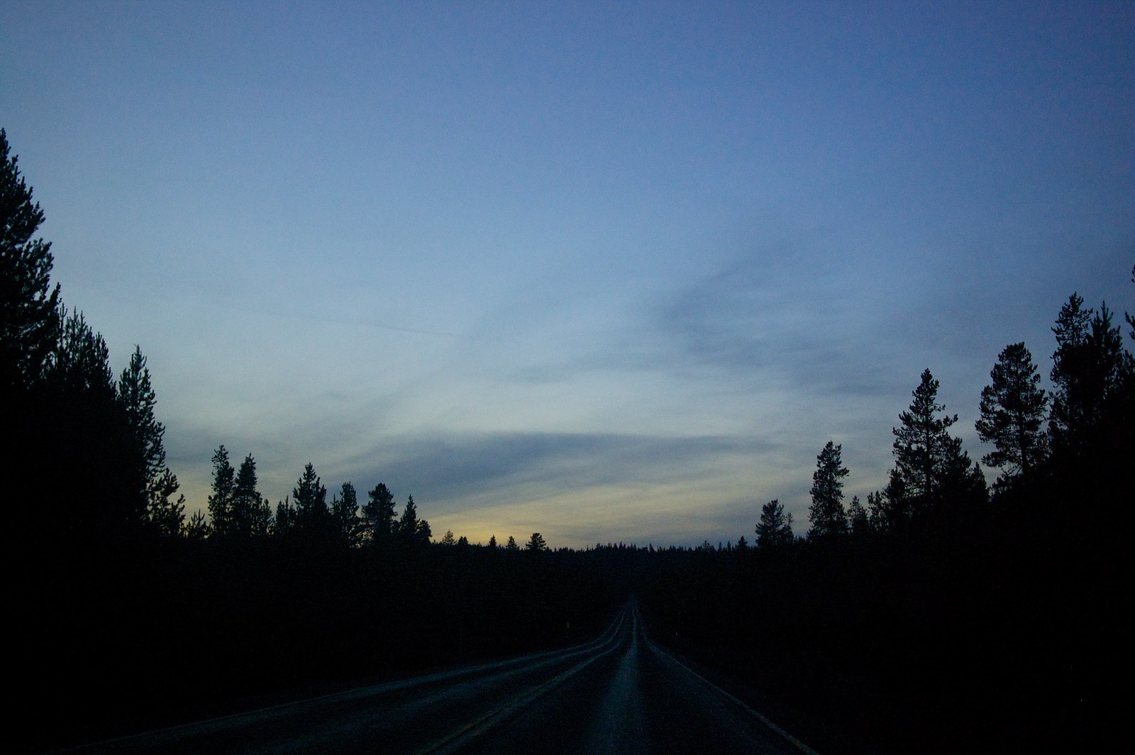 The sun is setting on our road trip
