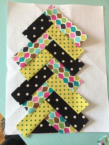 Cara's Friendship Quilt #quiltjourney my herringbone polka dot rainbow row.