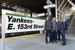Yankees board train to Boston